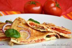 Quesadillas tomate, mozzarella, basilic : la recette facile