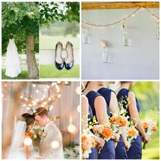 Wedding Color Inspiration : Peach and Navy - Rustic Wedding Chic