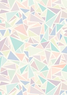 Pastel triangle pattern
