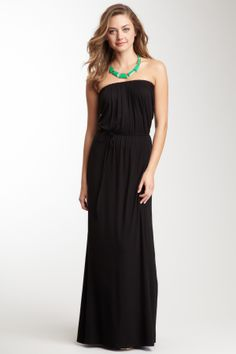 Loveappella Strapless Maxi Dress