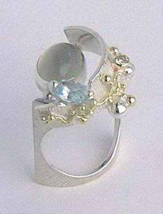 Gregory Pyra Piro One of a Kind Handmade Original Sterling Silver and 18 Karat…