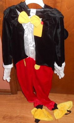 Disney Mickey Mouse Halloween Costume With Hood4T/5T NWT Clubhouse Play Dressup #Disney