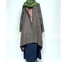 Asymmetrical Linen Long Jacket