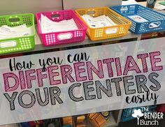 The Bender Bunch: How to Differentiate Your Centers Easily