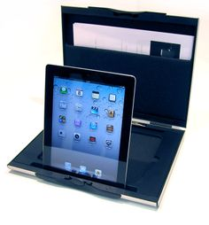 The A4 with a document holder and IPad insert. Ideal for easy IPad presentations when in a meeting