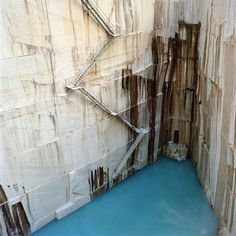 """Lisbon-based photographer Tito Mouraz' """"Open Space Office"""" project, a photo essay shot at a Portugese rock quarry Open Space Office, Carrara, Aerial Photography, Landscape Photography, Abstract Photography, Stone Quarry, 6 Photos, Belle Photo, Stairways"""