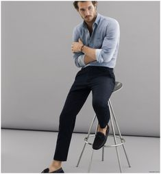 Justice Joslin Graces Massimo Dutti NYC Collection Spring/Summer 2015 Look Book Old Man Fashion, Mens Fashion, Stylish Men, Men Casual, Casual Wear, Justice Joslin, Man Dressing Style, Look Man, Photography Poses For Men
