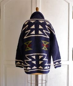 oversized tribal sweater navajo cardigan