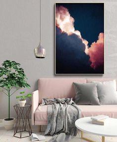 abstract art cloud painting print cloud print cloudscape art print large wall art abstract wall art cloud art ready to hang Simple Interior, Interior Design, Grand Art Mural, Cloud Art, Wall Decor, Room Decor, Deco Design, Design Art, Home And Deco
