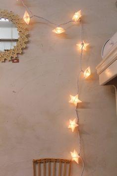 リネンクリーパーランプ スター Disco Party Lights, Starry Lights, Madame, Wabi Sabi, Stargazing, Christmas Inspiration, Interiores Design, Lamp Light, Christmas Lights