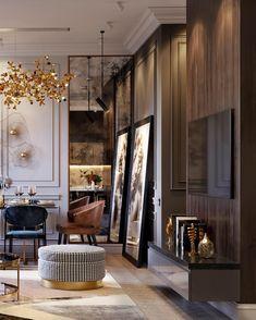 09 Elegant Contemporer Lighting Style for Home Decor Ideas Interior Design Inspiration, Home Interior Design, Interior Architecture, Interior Decorating, Design Interiors, Decorating Ideas, Classic Interior, Luxury Interior, Living Room Designs