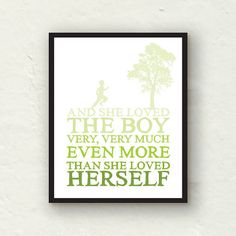 11x14 Nursery Decor  The Giving Tree  She by PaperFinchDesign, $20.00  I need this in the boy's playroom!!!