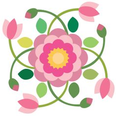 Sycamore Rose Block 8. Barn quilt inspiration.