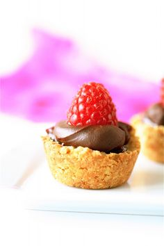Chocolate Tartlets - I would use graham cracker crust since hazelnuts aren't my favorite