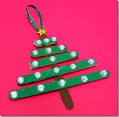 Christmas Tree Popsicle Stick