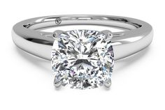 Solitaire Diamond Cathedral Engagement Ring - In White Gold with a Carat, Cushion Diamond Buy Engagement Ring Online, Cushion Cut Engagement Ring, Princess Cut Engagement Rings, Rose Gold Engagement, Best Engagement Rings, Beautiful Engagement Rings, Engagement Ring Settings, Solitaire Engagement, Beautiful Rings