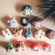 These #StudioGhibli macarons are too amazing to eat.