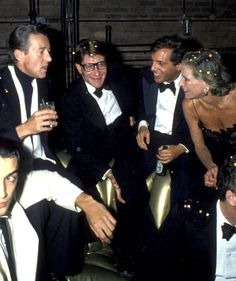 Halston, Yves Saint Laurent, Steve Rubell & Nan Kempner at Studio 54, 1978