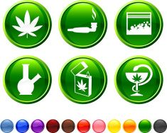 marijuana royalty free vector icon set vector art illustration