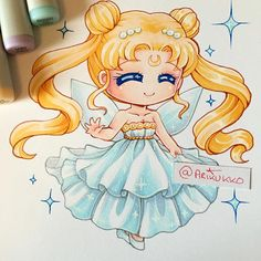 Chibi fanart of Princess Serenity from Sailor Moon~ ☆ You can buy a t-shirt with this design over at Spreepicky: https://www.spreepicky.com/collections/new-arrival/products/s-3xl-arikukko-design-sailor-moon-crystal-serenity-tee-sp166693?variant=17852300933 #paigeeworld #sailormoon #serenity #princessserenity #chibi #chibiart #copic #copics #copicart #copicmarker #traditionalart #sailormooncrystal #fanart