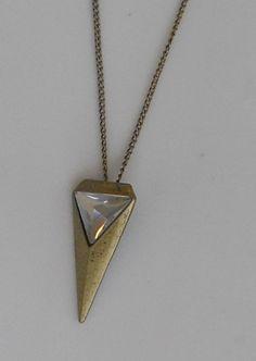 Rhinestone Triangle Necklace by AdornmentsbyWendi on Etsy, $18.00