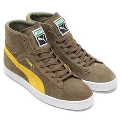 """#Puma Suede Mid Classic+ """"Burnt Olive"""" #sneakers"""