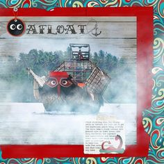 Photoshop Elements, Adobe Photoshop, Scrapbook Pages, Digital Scrapbooking, Mystery, Digital Art, Layout, Clouds, Ads