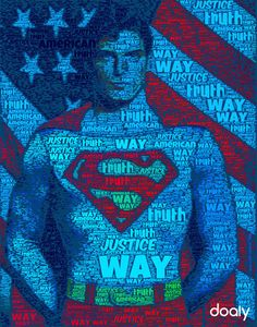 Superman Typography Poster
