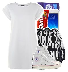 《everyday a nıgga try to test me, ah》 by chynelledreamz on Polyvore featuring polyvore Converse fashion style clothing