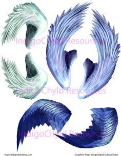 Seraphim Angel Wings Digital Collage Sheet (2.75 USD) by indigochyld