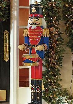The Nutcracker Drummer will proudly welcome guests into your home this holiday season with his stunning uniform and drum that plays cheerful songs with just a push of a button.