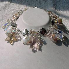 Handmade Bracelet of Swarovski Starfish by morningmiststudio, $90.00