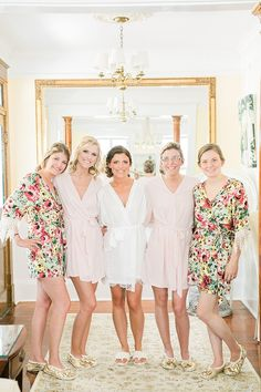 These robes make us want to spend a day getting our hair and make up done! - The Southern Weddings gals