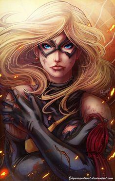 """comic-book-ladies: """"Ms Marvel by Edgar Sandoval """""""