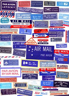 air mail labels from Katey Nicosia (flickr) #air_mail #labels #crafts #mail