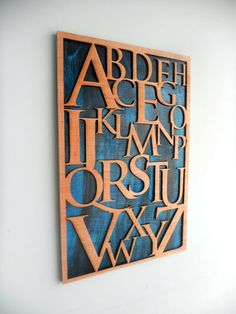 ALPHABET Wall Art  Laser Cut  Distressed