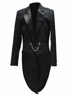 men's black swallow-tailed jacket . dark fashion . menswear