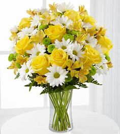 The Sunny Sentiments™ Bouquet by FTD® - VASE INCLUDED- Premium