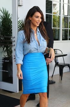 Kim Kardashian denim shirt