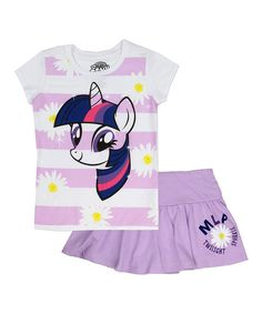 0ad3ded069d8 Look at this Purple My Little Pony Stripe Top & Skirt - Girls on #