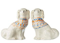 Hand Painted Staffordshire Dogs