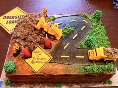 Construction Truck Birthday Cake on Cake Central