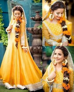 Actress getting married here are beautiful pictures from her Mayun ❤️ congratulations ♥️ . Asian Wedding Dress Pakistani, Pakistani Mehndi Dress, Bridal Mehndi Dresses, Mehendi Outfits, Bridal Dress Design, Wedding Dresses For Girls, Pakistani Dress Design, Party Wear Dresses, Bridal Outfits