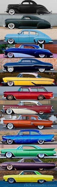 Classic Cars- Rolling Art. Each model had it's own uniqueness. Newer cars are easier on fuel & have modern features, but I will always be sweet on these treasures!!