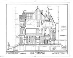 Walter Gresham House (Bishop's Palace), cross section
