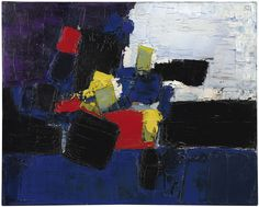 Nicolas de Staël (1914-1955) Footballeurs (1952) oil on canvas 65 x 81 cm