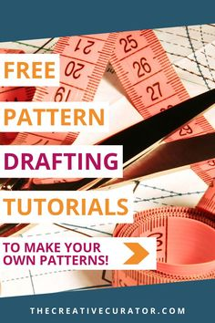 Learn how to draft your own patterns and make your own amazing and well fitting clothes with your own sewing patterns! These FREE pattern drafting tutorials will help you to be more confident at making your own sewing patterns! Pattern Drafting Tutorials, Sewing Tutorials, Sewing Rooms, Sewing For Beginners, Book Making, Pattern Blocks, Sewing Techniques, Vintage Sewing Patterns, Pattern Making