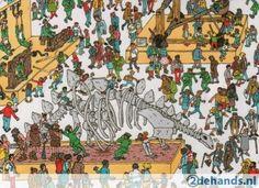postkaart Waar is Wally / In het museum NIEUW