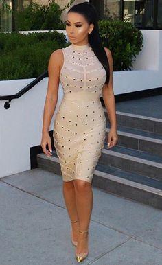 $109.99 Studded Bandage Dress