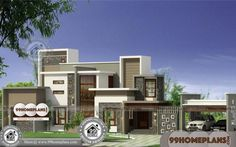 Kerala Home Design with Plan Simple 2 Storey House Design Ideas Low Cost House Plans, House Plans 2 Story, Dream House Plans, 2 Storey House Design, Two Storey House, Simple House Design, House Design Photos, 1500 Sq Ft House, Low Cost Housing